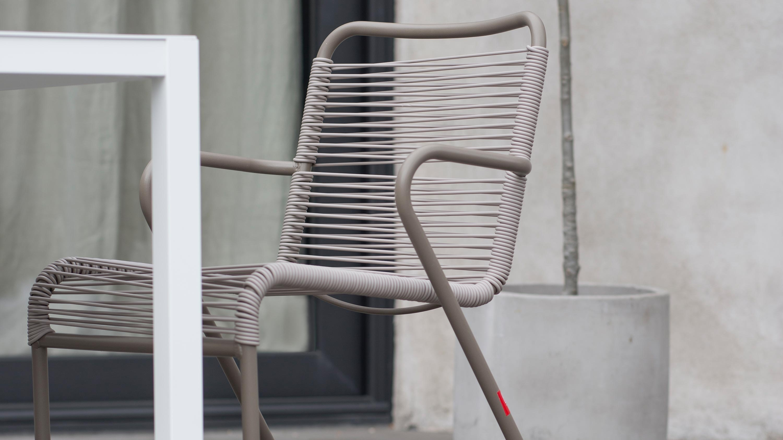 LIDO BRACCIOLI Sedia da esterno con braccioli in alluminio