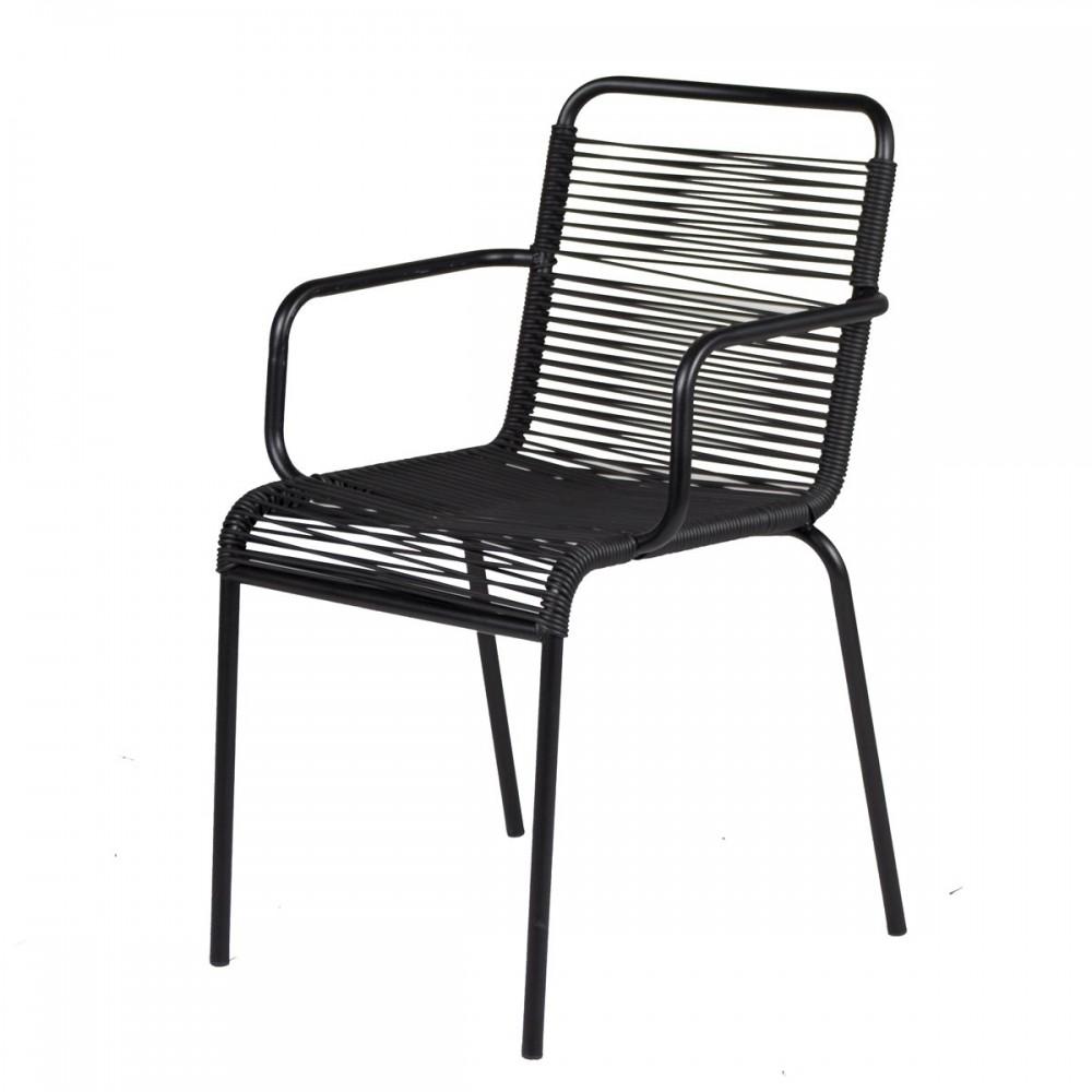 Sedie Da Esterno Con Braccioli.Mya Sedia Da Esterno In Alluminio Con Braccioli E Tondino In Pvc